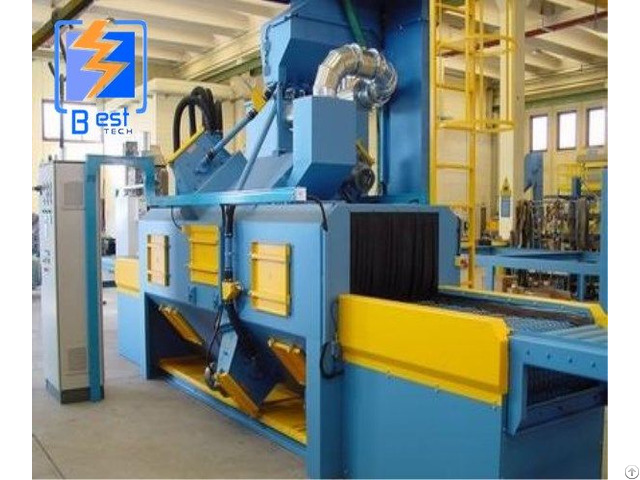 Net Wire Belt Conveyor Shot Blasting Cleaning Machine