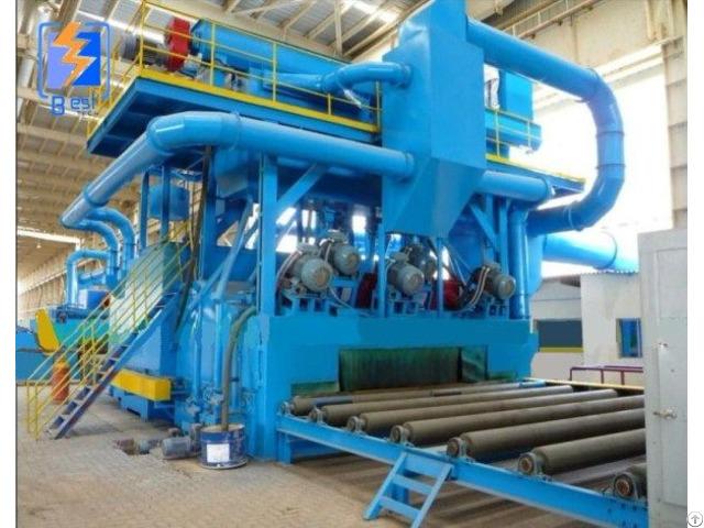 Conveyor Type Steel Structure Shot Blasting Machine