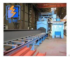 H Steel Beams Roller Conveyor Shot Blasting Machine