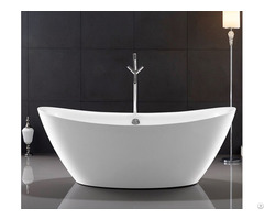 Traditional Large Oval Freestanding Tub Deep Soaking With Gloss Surface Yx 723