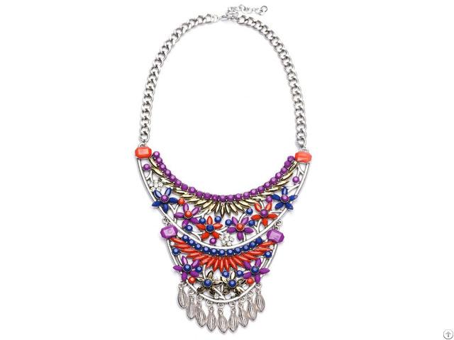 Fashion Layer Bead Statement Necklace