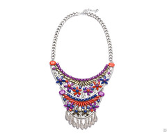 Fashion Layer Bead Statement Necklace