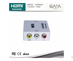 Hot Selling Av To Hdmi Converter Switcher Support 1080p 3d Hdtv Exchanger