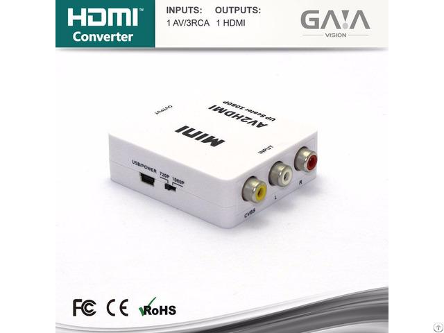 Hot Selling Av To Hdmi Converter Switcher Hdtv 1080p Exchanger
