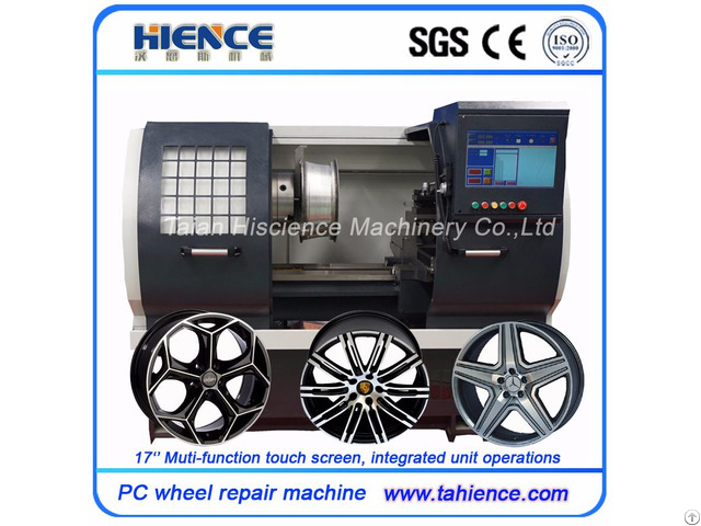 High Performance Car Wheel Repairing Machine With Touch Screen Awr2840 Pc
