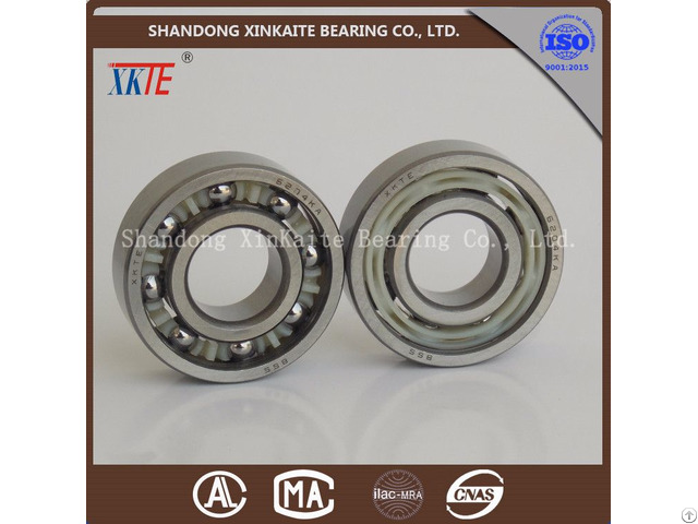 Nylon Retainer Conveyor Idler Bearing 6204ka For Mining Machine From China