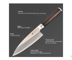 Japan Chef Cooking Knife With Color Wooden Handle