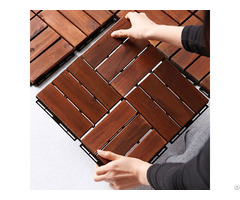 Interlocking Acacia Wood Deck Tiles