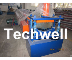 Roof Ridge Cap Cold Roll Forming Machine With Hrc 50 60 Cutting Blade