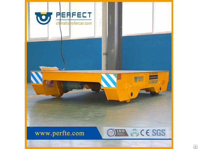 Industry Heavy Load Motorized Steel Rail Flat Transfer Trolley