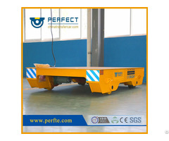 Industry Heavy Load Motorized Steel Rail Flat Transfer Trolley