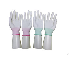 China Cheap Price Safety Cleanroom Pu Top Fit Antistatic Nylon Glove Wholesale