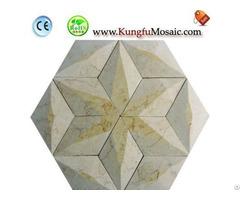 Beige Hexagram Marble Mosaic