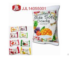 Top Seller Milk Fruit Center Filled Soft Candy