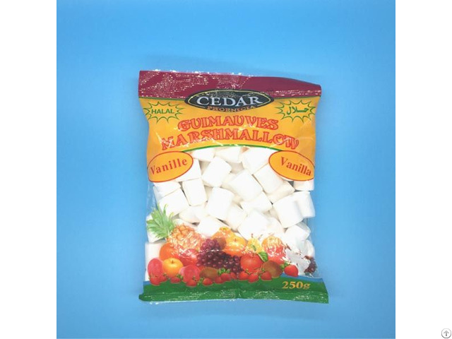 Cube Shape Sweet Marshmallow Packed In Bags