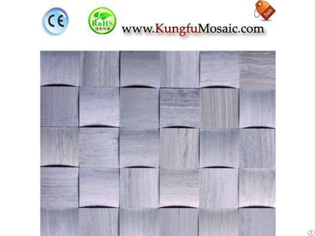 Chinese 3d Grey Wood Marble Mosaic