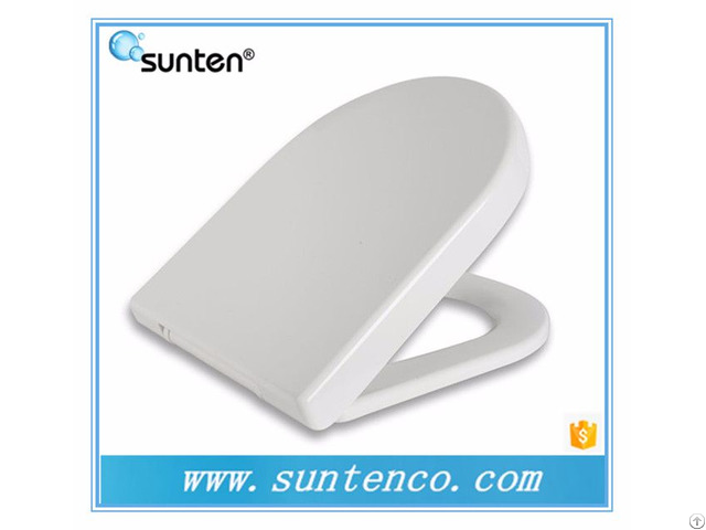 Waterproof Uf Bathroom White European Toilet Seat Covers With Slow Close