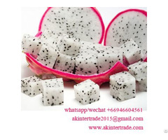Frozen White And Red Dragon Fruit From Thailand