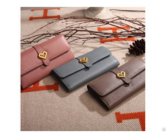 Factory Supply Customized Women Pu Leather Long Purse Wallet Purses
