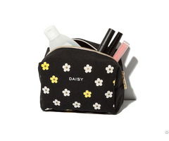 Cosmetic Bag Manufacturer Canvas Daisy Makeup Cosmetics Promotional Bags