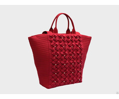 Spring Floral Tote Handbags With Smocking Design