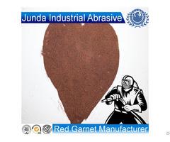 Rock Abrasive Blasting 30 60 Mesh Garnet Sand