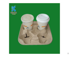 Biodegradable Recyclable Custom Waterproof Protective Coffee Cup Holder