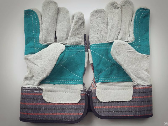 Good Supplier Cow Split Leather Gloves