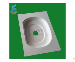 Paper Pulp Molded Electronic Packaging Tray Environmental Friendly