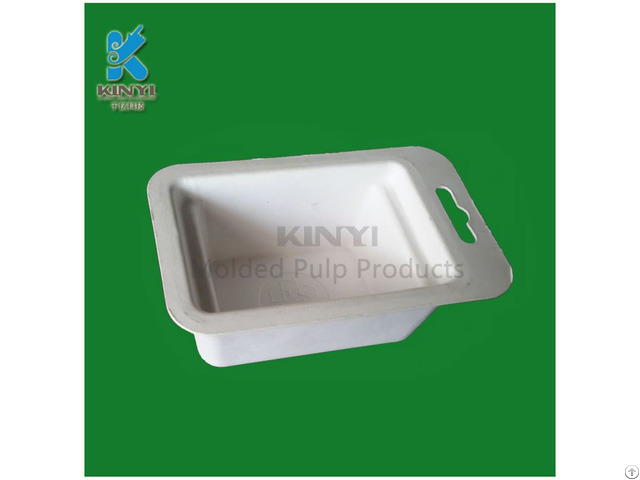 Bagasse Pulp Molded Electronic Paper Packaging Tray
