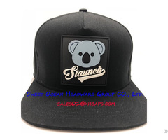 100% Acrylic Unisex Hip Hop Snapback Caps With Rubber Patch