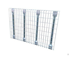 Welded Wire Mesh Decking And Divider With Flared Channel For Racking System