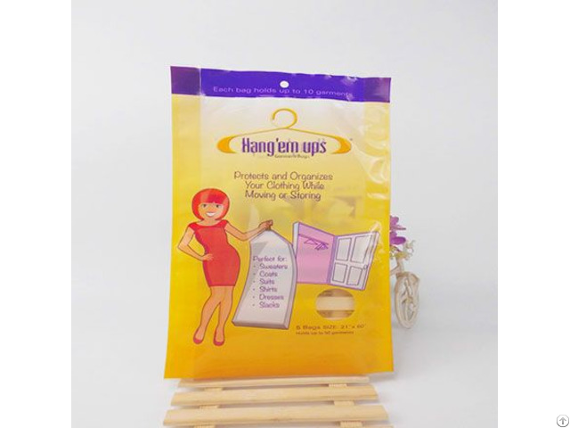 Three Side Sealing Plastic Bag For Clothes Dust Proof