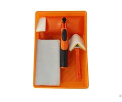 Professional 5pc Flocked High Density Foam Paint Pad Tray Set Plastic Kit