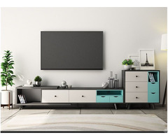 Modern Design Wood Melamine Finish Tv Stand Table