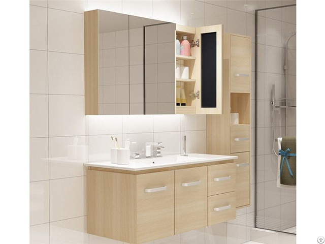 Waterproof Wood Bathroom Vanity Cabinet With Nice Quality