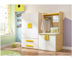 Healthy Mdf Chipboard Wood Kids Room Wardrobe