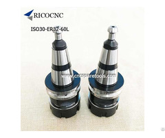 Iso30 Er32 60l Tool Holder Cnc Collet Chuck With Hsd Pull Stud