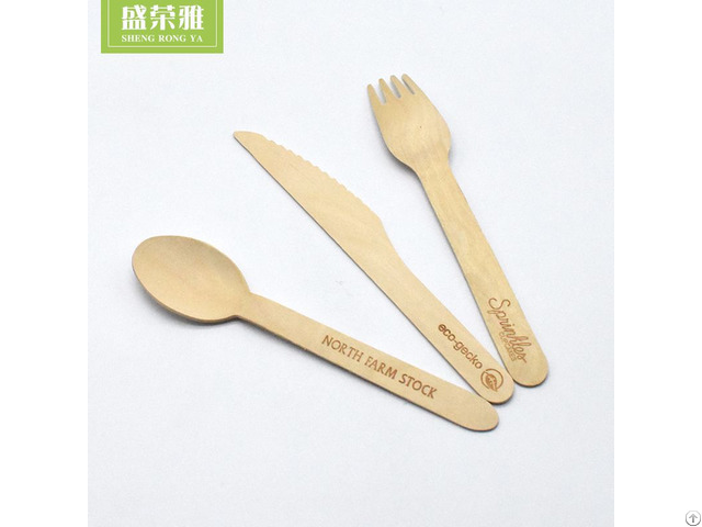 Birch Wood Cutlery Set