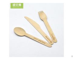 Birch Wood Cutlery Set