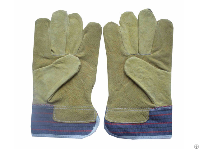 Cow Split Leather Worker Gloves