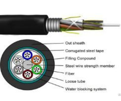 Telecommunication Outdoor Optical Armoured Loose Tube Fiber Cable
