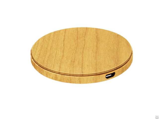 Custom Design 5w Real Wood Charger Wireless For Samsung