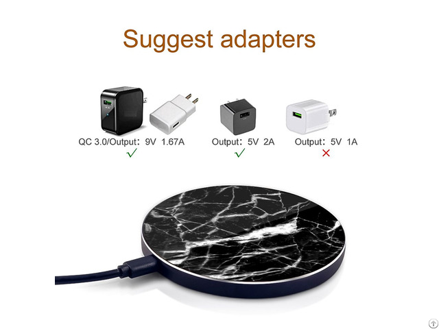Oem Fast Real Marble 7 5w 10w Wireless Chargers For Iphone