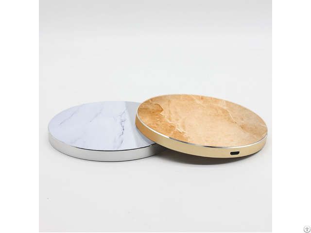 Factory Round Real Oem Fast Marble Wireless Charger For Iphone X