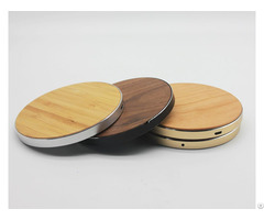 Bamboo Walnut Wooden Fast Wireless Chargers For Iphone
