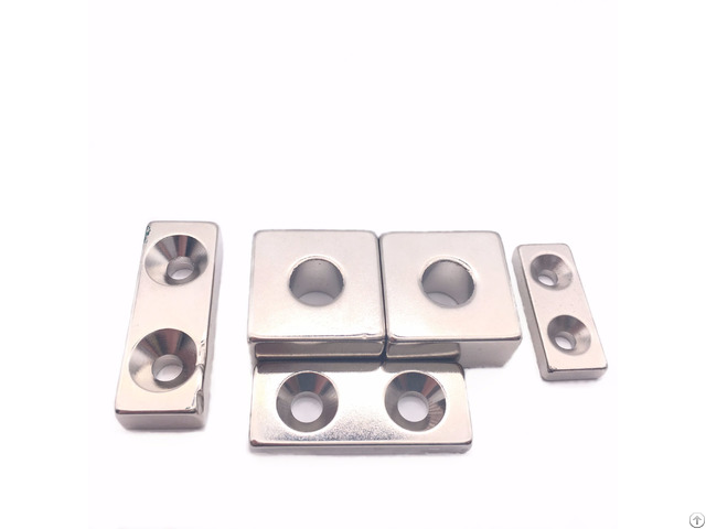 Sintered Block Nickel Coating Magnet With Hole