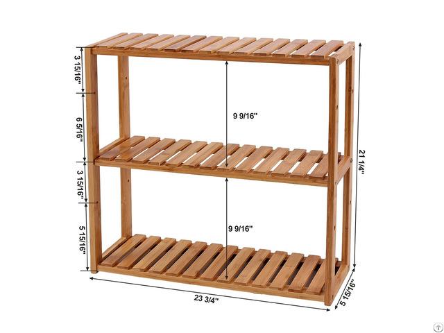 Multinational Shelf Rack Wood Adjustable Shelve