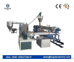 Pp Pe Pet Water Cooling Strands Pelletizing Granules Plastic Extruder Production Line