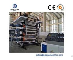 Pvc Plastic Vinyl Production Line Stone Floor Extrusion Machinery